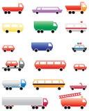 Simboli colorati di trasporto della città Fotografie Stock Libere da Diritti