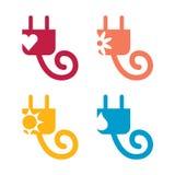 Simboli concettuali di potenza Immagini Stock Libere da Diritti