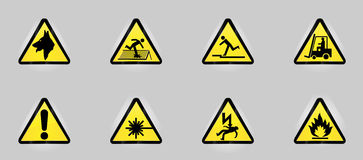 Simboli d'avvertimento Immagini Stock