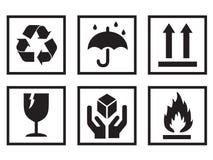 simboli d'imballaggio Fotografia Stock Libera da Diritti