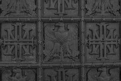Simboli decorati del metallo dell'America immagini stock libere da diritti