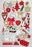 Simboli decorativi di Natale Fotografia Stock