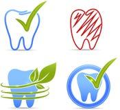 Simboli dei denti illustrazione di stock