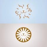 Simboli dei leoni Immagine Stock