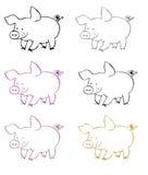 Simboli dei maiali Fotografie Stock Libere da Diritti