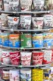 Simboli dei ricordi per i turisti e gli ospiti sulle vie di Budapest Immagini Stock