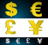 Simboli dei soldi Fotografia Stock Libera da Diritti