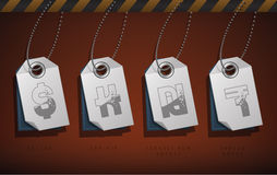 Simboli dei soldi Immagini Stock