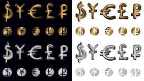 Simboli dei soldi Fotografia Stock