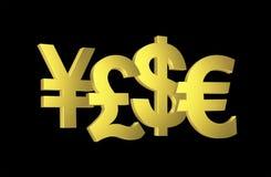 Simboli dei soldi Immagine Stock