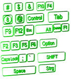 Simboli del calcolatore su bianco immagini stock