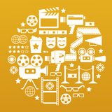 Simboli del cinema Immagini Stock Libere da Diritti