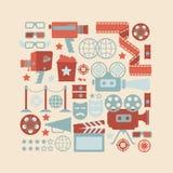 Simboli del cinema Fotografie Stock