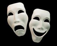 Simboli del commedia-teatro e di dramma Fotografia Stock