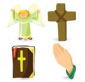 Simboli del cristiano di vettore Fotografia Stock