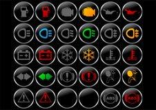 Simboli del cruscotto Fotografie Stock Libere da Diritti