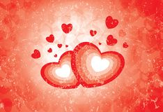 Simboli del cuore che mostrano l'emozione di amore illustrazione vettoriale