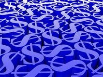 Simboli del dollaro Fotografia Stock Libera da Diritti
