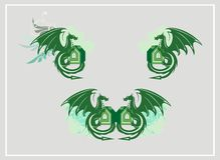 Simboli del drago Immagine Stock Libera da Diritti