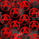 Simboli del modello di punk di anarchia Fotografia Stock Libera da Diritti