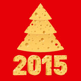Simboli del nuovo anno del formaggio Immagini Stock