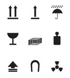 Simboli del pacchetto Fotografia Stock Libera da Diritti