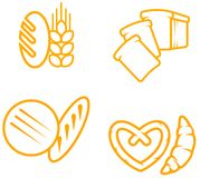 Simboli del pane Immagini Stock
