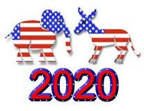 Simboli del partito di elezione 2020 grafici Immagini Stock
