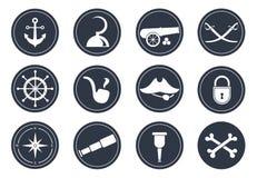 Simboli del pirata Fotografia Stock