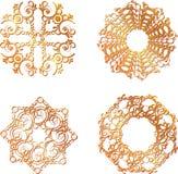 Simboli del pizzo dell'oro Fotografie Stock Libere da Diritti