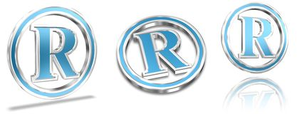 Simboli del registrato depositato Immagini Stock Libere da Diritti