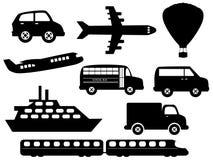 Simboli del trasporto illustrazione di stock