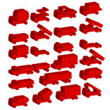simboli del trasporto. Immagini Stock