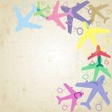 Simboli dell'aereo Fotografia Stock