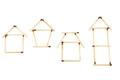 Simboli dell'alloggiamento Fotografie Stock