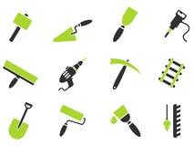 Simboli dell'attrezzatura della costruzione Fotografie Stock