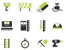 Simboli dell'attrezzatura della costruzione Fotografia Stock