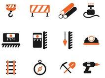 Simboli dell'attrezzatura della costruzione Fotografie Stock Libere da Diritti