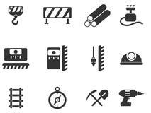 Simboli dell'attrezzatura della costruzione Immagine Stock
