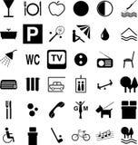 Simboli dell'hotel Fotografia Stock Libera da Diritti