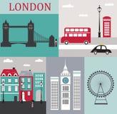 Simboli di Londra. Immagine Stock