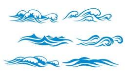 Simboli dell'onda Immagine Stock Libera da Diritti