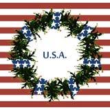 Simboli della bandiera di U.S.A. Fondo astratto con i simboli degli Stati Uniti Bandierina degli S Immagine Stock