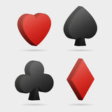 Simboli della carta di vettore 3d Fotografia Stock