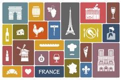 Simboli della Francia royalty illustrazione gratis