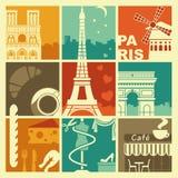 Simboli della Francia illustrazione di stock