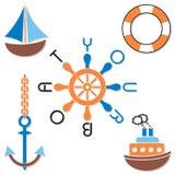 Simboli della marina Fotografie Stock Libere da Diritti