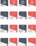 Simboli della mazza isolati Fotografia Stock Libera da Diritti