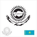 Simboli della Repubblica del Kazakistan Immagini Stock Libere da Diritti