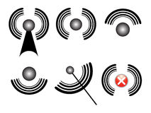Simboli della rete Immagini Stock Libere da Diritti